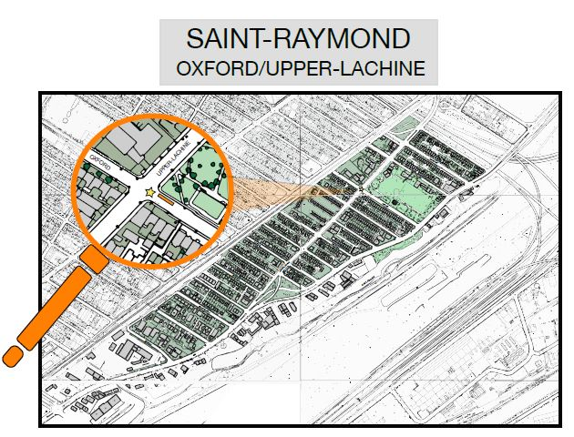 NDG sector Saint-Raymond map